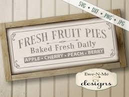 Fresh Baked Pies Svg Fresh Baked Pies Sign Design Etsy