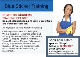 cleaning lady blue sticker training marketing