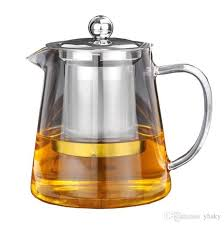2019 5sizes good clear borosilicate glass teapot with 304 stainless steel infuser strainer heat coffee tea pot tool kettle set from yhsky 11 19 dhgate