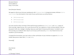 Employee Termination Letter Sample Malaysia Poor Performance L