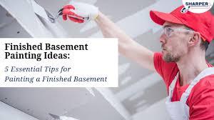 finished basement painting ideas 5