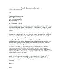 Letter Of Recomendation Example How To Write Recommendation Letter To Hostel Official For Admissions