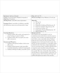 lesson plan samples premium templates college essay lesson plan