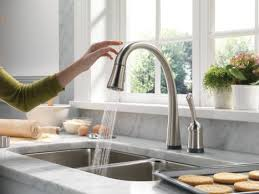 Touch kitchen faucets Bronze Delta Pilar Touch Activated Kitchen Faucet Touch Activated Kitchen Faucet Delta Pilar Pull Down Faucet Trendir Touchactivated Kitchen Faucet Delta Pilar Pulldown Faucet With
