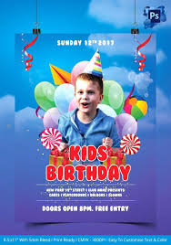 Birthday Invitation Flyer Template Template Birthday Invitation Flyer Template Kids Party Free 3