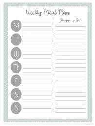 menu planner printable weekly meal plan for happy planer meal planner printable