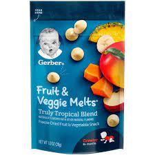 Sữa chua khô Gerber vị rau quả tổng hợp | Bánh ăn dặm - Kẹo dinh dưỡng