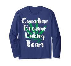 Long Sleeve Tee Design Amazon Com Canada Legal Pot Leaf Baking Team Distressed