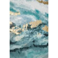 litton lane turquoise and gold