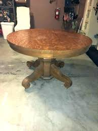 antique round oak table pedestal with 6 chairs and leaf ro tables round oak