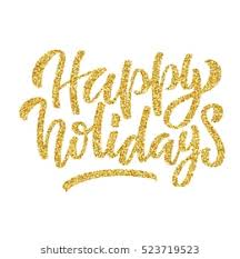 happy holidays images. Fine Happy Hand Lettering Inscription Happy Holidays With Golden Glitter Effect  Isolated On White Background Ideal Inside Happy Holidays Images C
