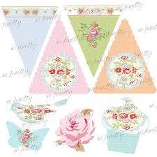 Tea Party Free Printables Printable Tea Party Decorations Kit Tea Party Decorations