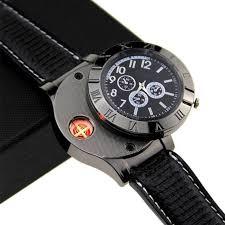 Creative <b>watch</b> lighter multi function electric <b>metal</b> outdoor <b>windproof</b> ...