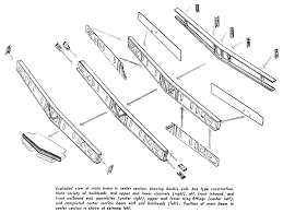 Exploded view of main beam in center section