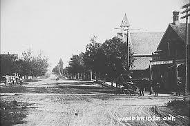 pine street now woodbridge avenue circa 1850