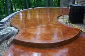 stained concrete patio. Stained Concrete Patio