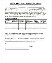 Equipment Rental Contract Sample Mesmerizing 48 Generic Rental Agreement Samples Sample Templates