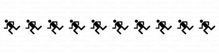 走る人のライン線の無料イラスト素材イラストイメージ
