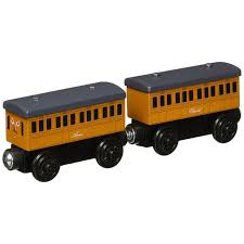 thomas and friends wooden railway annie and clarabel coaches