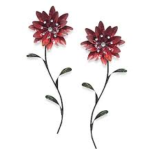 metal flower wall art red bed bath beyond metal wall decor red metal  on flower metal wall art decor with hand painted red modern abstract metal wall art decor metal wall
