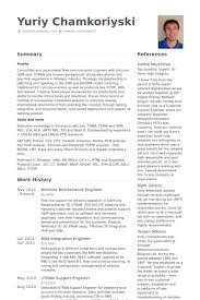 Reliability Engineer Sample Resume 22 Example Electrical ...