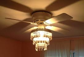 comely ceiling fan with chandelier light with home lighting