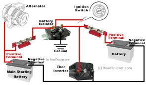 automatic smart battery isolator thor 85 amp 12 volt with isolator how to wire a boat battery switch at Marine Battery Isolator Wiring Diagram