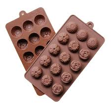 Decorative Ice Cube Trays New Design flower silicone chocolate mold ice cube tray form for 21