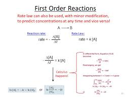 39 first order reactions rate law