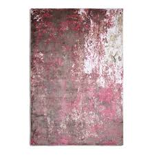 bonsoni importo velvet texture luxurious soft loom knotted pink 100 art silk rug 150 x 230cm