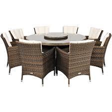 savannah rattan garden furniture 8 seat dining set plus back cushion