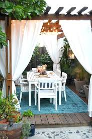 outdoor curtains for pergola after our outdoor pergola deck with outdoor curtains and rug table le outdoor curtains for pergola