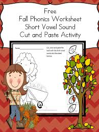 Free Fall Cut and Paste Phonics Worksheets - The Homeschool Village