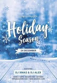 Holiday Flyers Templates Free Christmas Holiday Season Free Psd Flyer Template For Club