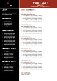Free Resume Template Mining Red The Perfect Resume