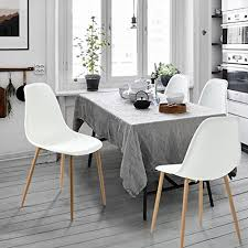 amazon greenforest eames white dining chair metal wood legs plastic seat and back for dining room chairs sets of 4 chairs