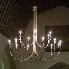 hartcliff 18 light two tier wrought iron chandelier 1600mm diameter in