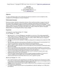 Marketing Resume Examples Adorable Sales And Marketing Resume Samples Objective Template Examples