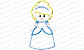 Cinderella Applique Design Blue Princess Applique Embroidery Design Kris Rhoades