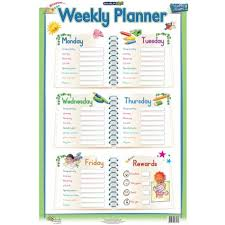 Marlin Kids Educational Wall Chart Weekly Planner