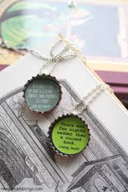 diy book nerd necklaces cute upcycled bottle cap craft tutorial