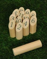 Lawn Game With Wooden Blocks Mölkky Game Lawn games Lawn and Gaming 2