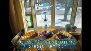 how to make a gl garden art totem and bird bath 1 2