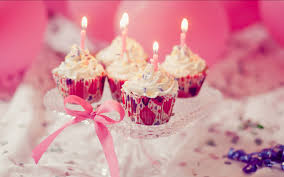 Birthday Cupcake Candles Hd Wallpaper Background Images