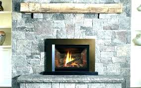 wood fireplace with gas starter log cool
