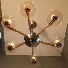 blown glass chandelier 1960s 13