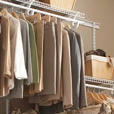 installing a closetmaid shelftrack closet storage system the home depot