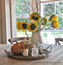 Centerpiece For Kitchen Table Serendipity Refined Inside The French Farmhouse Fall Decorating