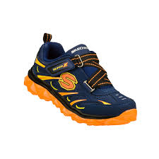 skechers shoes for boys. skechers boys shoes- mighty flex toddlers navy/orange us 7-10 shoes for k