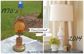 white lamp always never done